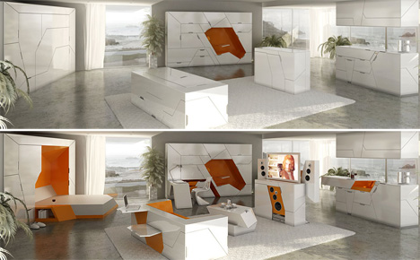 Interior Design Home in a Box Room Solutions for Living in Small