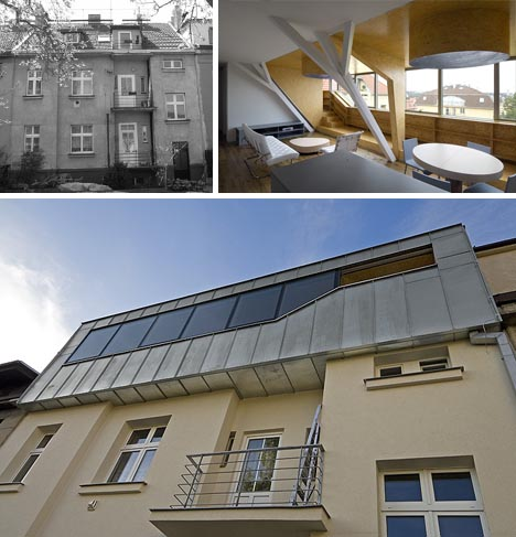 modern metal attic space addition