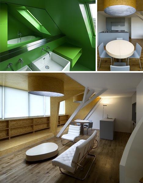 modern wood attic space addition interior
