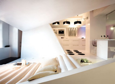 white black interior design