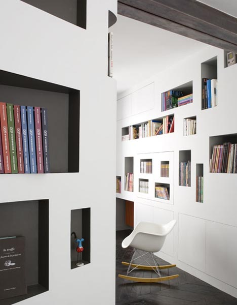 Built in Wall Shelf Designs 468 x 600