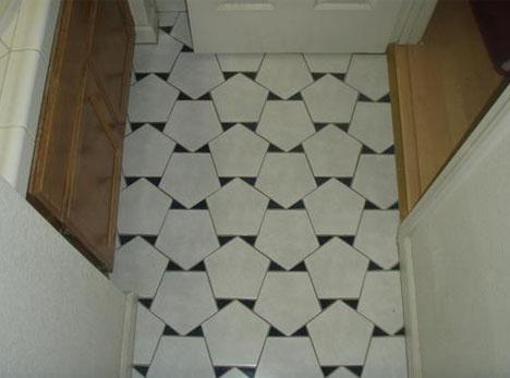 Fun Creation through The Tile Floor Pattern: Modern Tile Floor