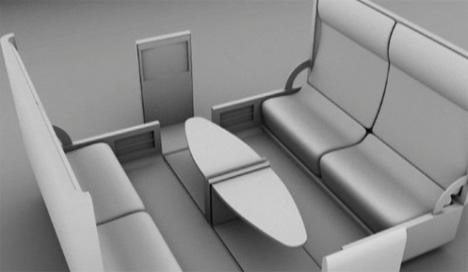 Prefab Home Office Interior-plus-Furniture Pod Design Idea