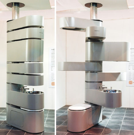 kamar mandi vertikal pertama di dunia