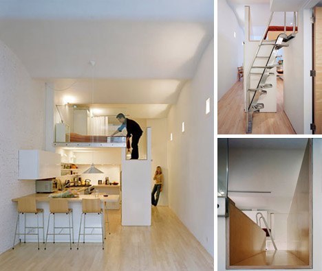 SAEBA.COM: Loft Bed turns Single-Floor Studio to Two-Level Apartment