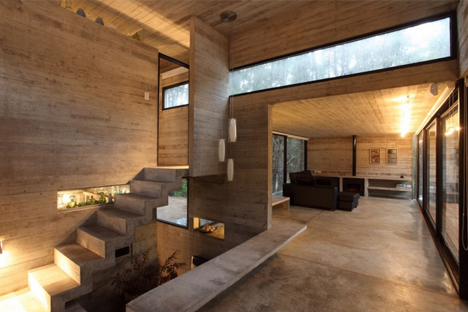 An All Concrete House With Bonus Death Stair