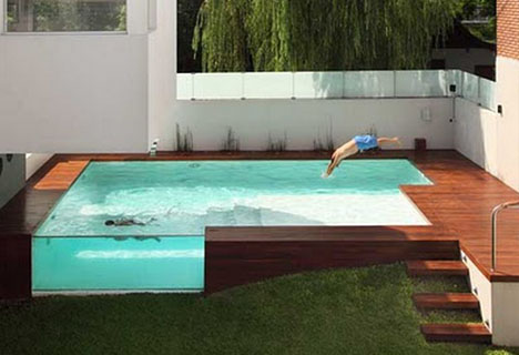 Decked Out: Wood Patio + Above-Ground Swimming Pool ...