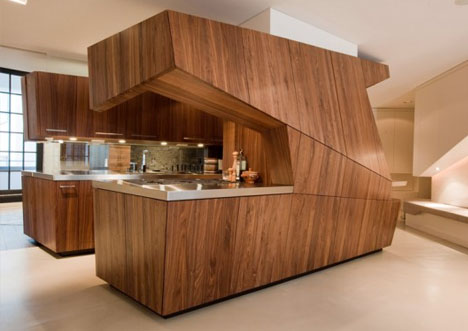 Kitchen Island 2014 private island : ultra-modern kitchen 'floats' in white space