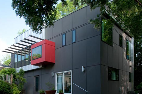 Second Story: Modular Modern 'Puzzle Piece' Home Addition