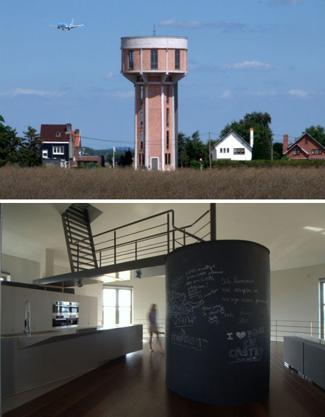 water tower refab architecture 250,000 Liter Home: 7 Story Water Tower to House Refab