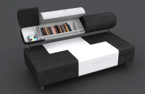 Saving Space: Storage Filled Sofa Has Secret Compartments