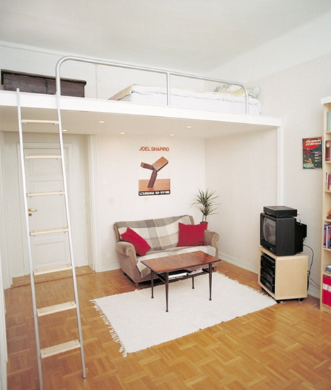 Loft Bed Ideas for Small Spaces 468 x 551