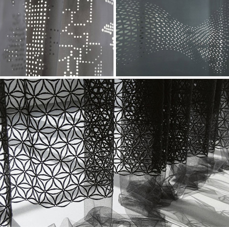 3D Textiles: Patterned Cuts Add Depth to Flat Interior Decor