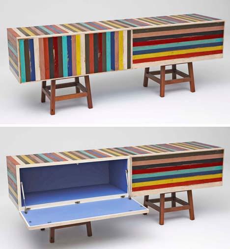 Charmant Colorful Wood Furniture Designs