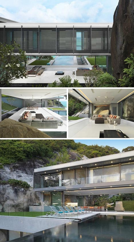 Interior architecture design cliff hanging home for Cliff hanging homes