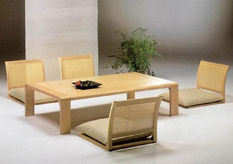 طاولات طعام ارضية فريدة من نوعها Japanese-table-chairs-collection