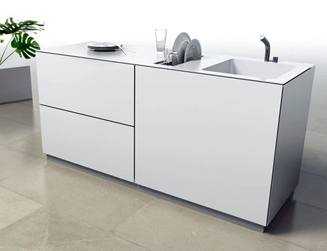 SAEBA.COM: Tiny SingleServing Dishwasher Saves Kitchen Island Space