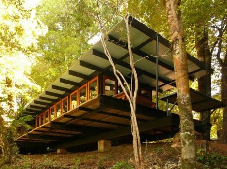 Forest cottage cobbled