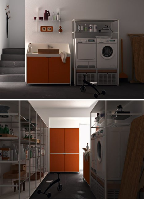 Laundry Room Layouts: Cabinets, Storage & Shelf Systems