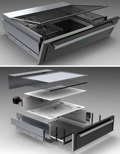 Under Cook Built In Slide Amp Hide Microwave Drawer Idea