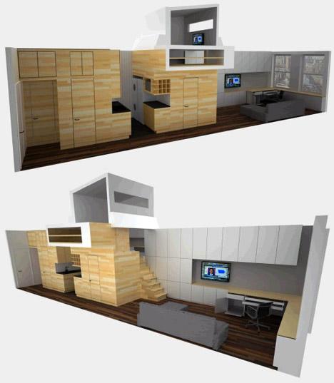 Elegant Efficiency: NYC Shoebox Studio Apartment Solution