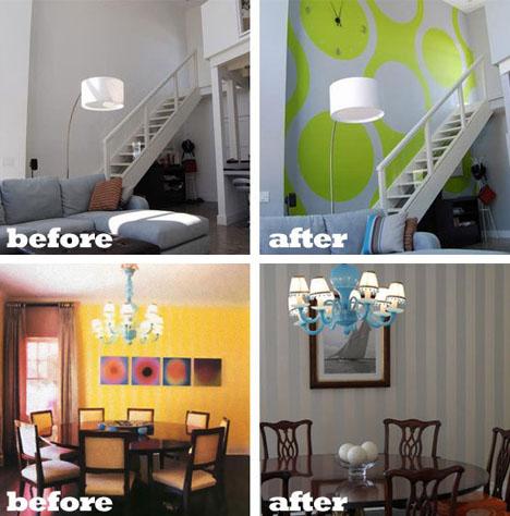 SAEBA.COM: Before & After Paint: 22 Home Furniture & Interior Photos