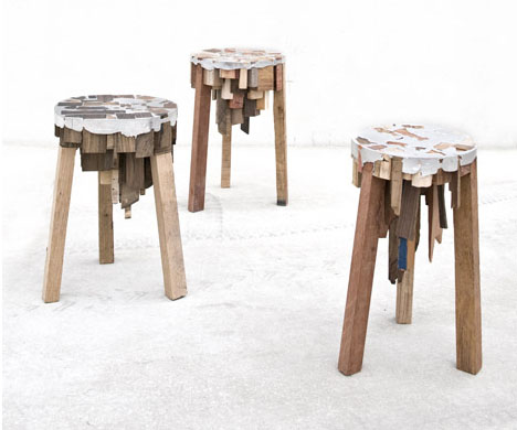 Reuse Furniture reclamation administration / reuse furniture. stools