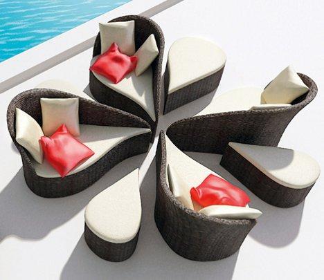 saeba: blooming lovely: flower-inspired modular patio furniture
