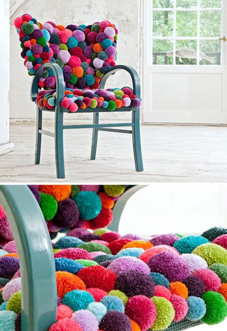 Sessel aus Bommeln DIY