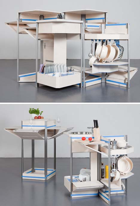 Kitchen In A Box : SAEBA.COM: Compact Modular Kitchen-in-a-Box Has it All, Including Sink