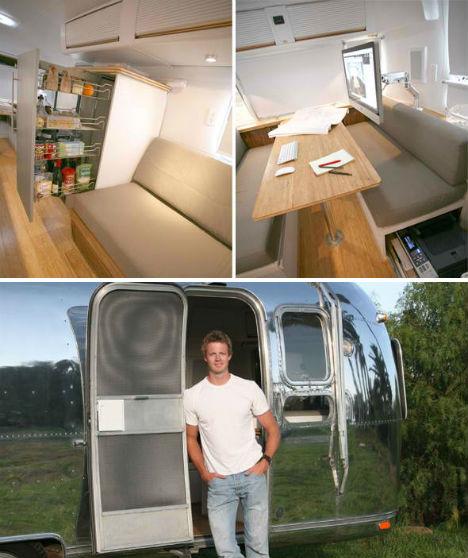 Vintage Airstream Converted into Home/Office Hybrid - image Vintage-Airstream-Renovation-4 on http://bestdesignews.com