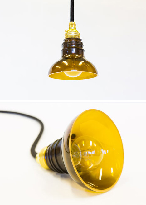 Saeba com half half recycled bottles turned into lamps vases - Recycled light fixtures ...