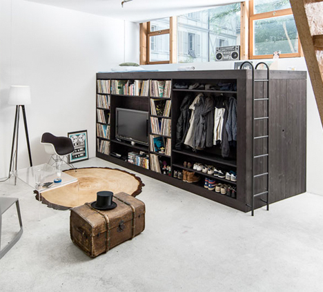 living cube space saving loft storage unit for studios architects