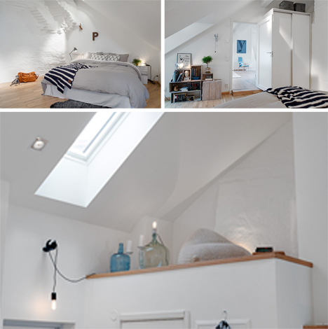 Tiny Swedish Lofted Apartment With A Stunning Terrace
