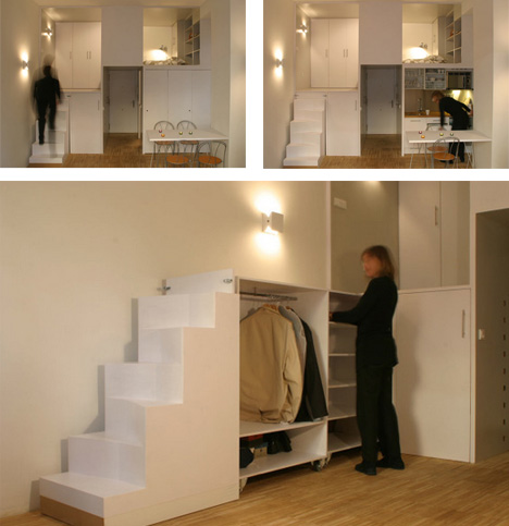 ... of Surprises: 300-Square-Foot Office Turned Apartment - Fine & Home
