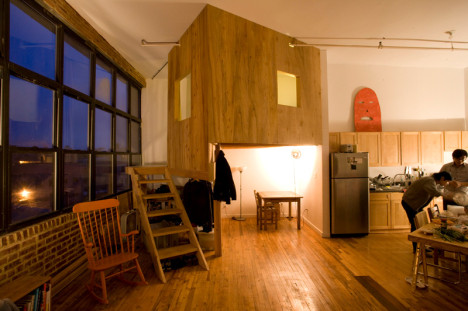 Funky Brooklyn Loft Features Indoor Cabin Treehouse