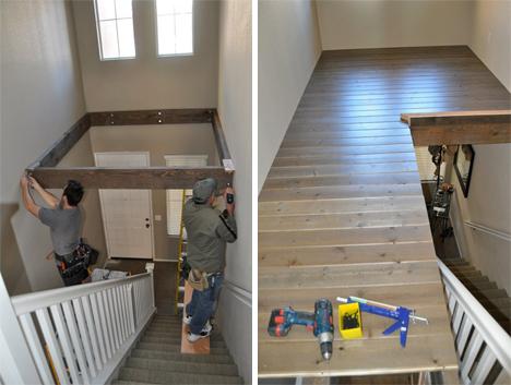 Abracadabra Double Height Foyer Becomes Diy Loft Area Fine Home