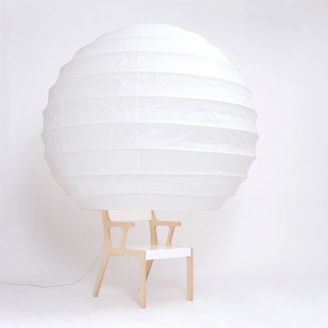 object o isolation lamp chair