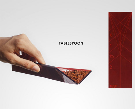 Flat Spoon: Polygonal Measuring Tool Reduces Kitchen Clutter