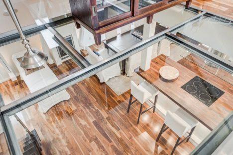 Unique modern kitchen - Glass Ceiling Unique Transparent Design Fills Loft With Light Fine