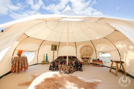 Luxury Lotus Tent: Yurt-Like Shelter Packs Into Duffle Bag