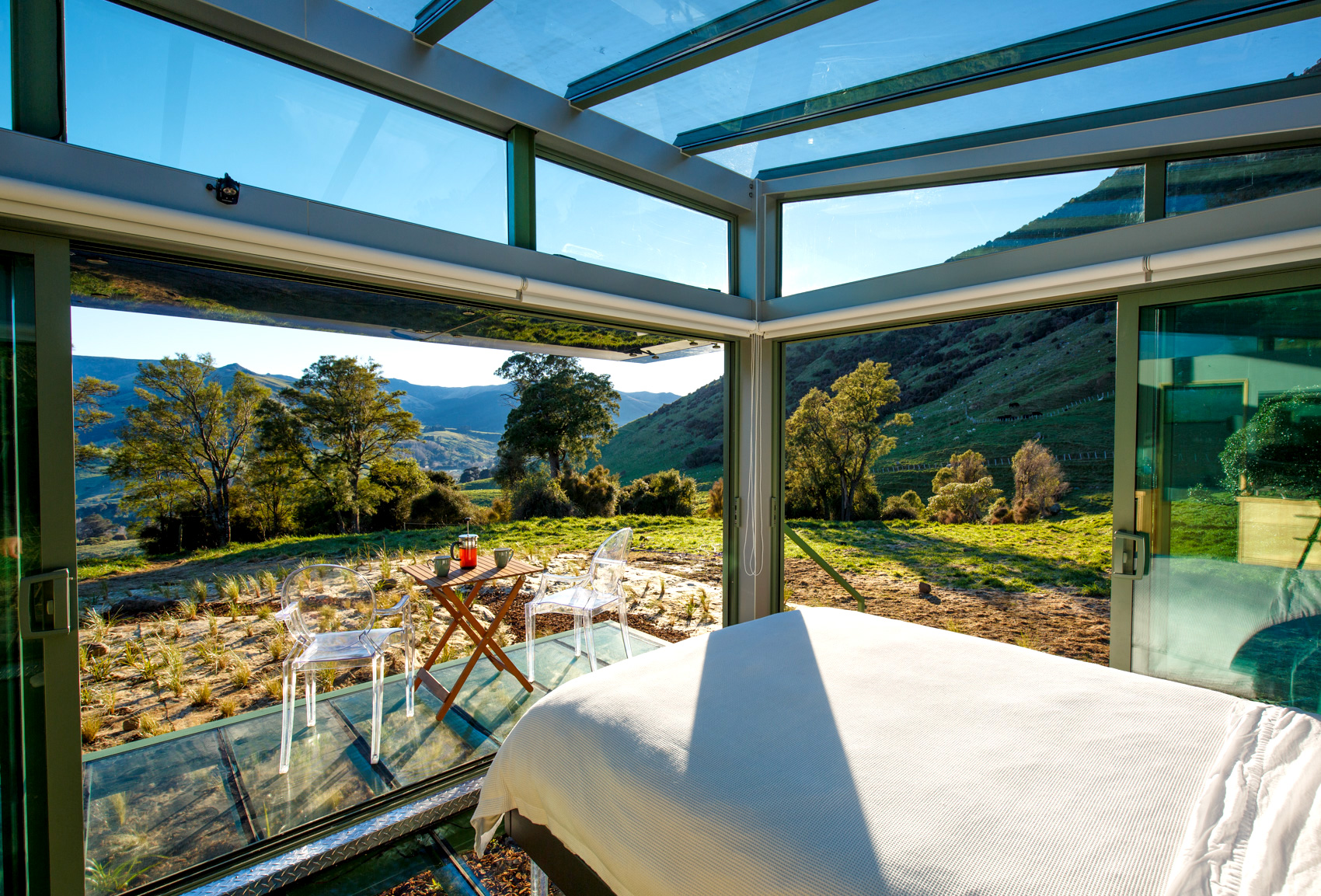PurePods: Transparent Glass Guest Houses Dot the New Zealand Countryside