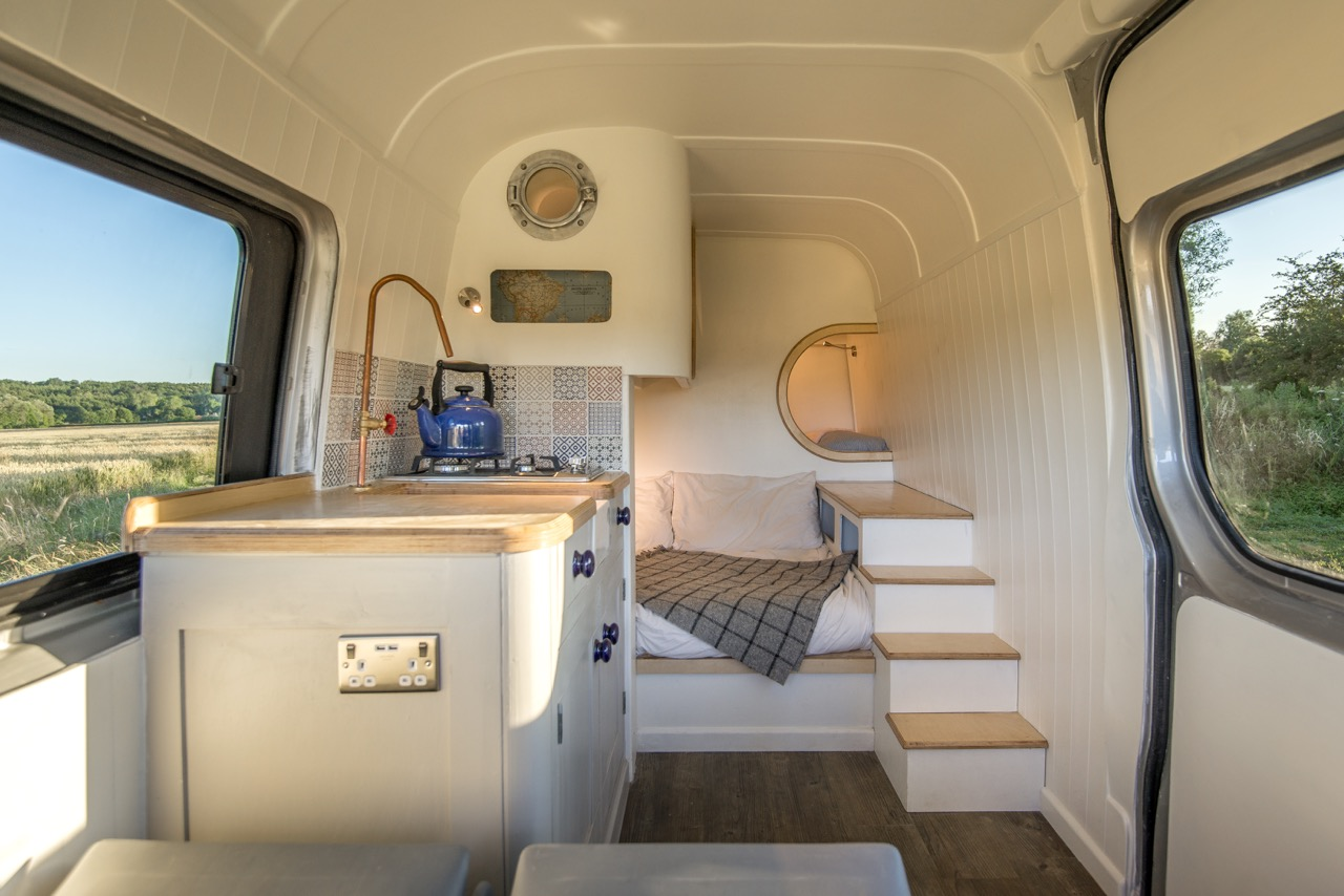 This Moving House: Camper Van Conversion Inspired by Boat Interiors