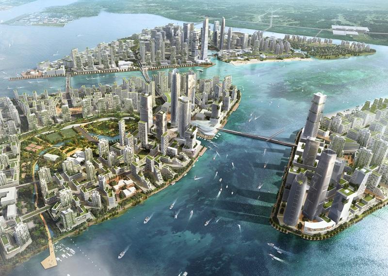 Forest City: A Lush New Car-Free Island Metropolis in Malaysia